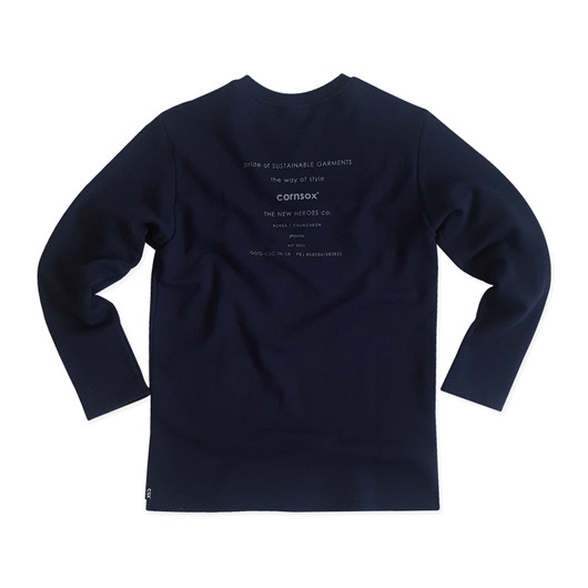 [CSX™] ORGANIC COTTON SWEATSHIRT - NAVY(printed)