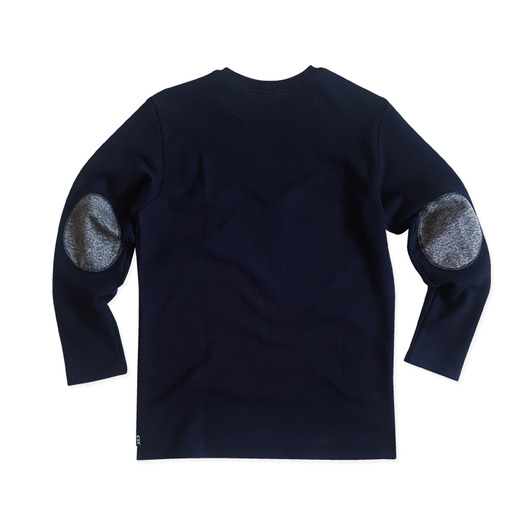 [CSX™] ORGANIC COTTON + RECYCLE POLY SWEATSHIRT - ELBOW PATCH