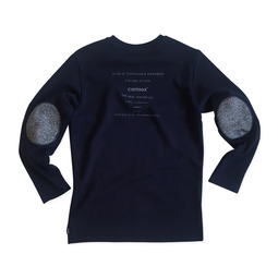 [CSX™] ORGANIC COTTON + RECYCLE POLY  SWEATSHIRT - ELBOW PATCH(printed)