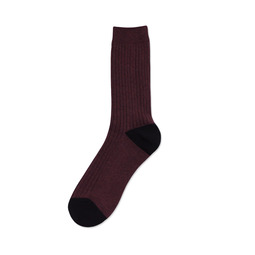 [Urban Classic Rib Socks] Marron